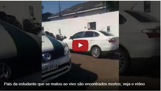 - video pais de bruna - Vídeo de suicídio ao vivo de Bruna Andressa Borges no Instagram choca internet