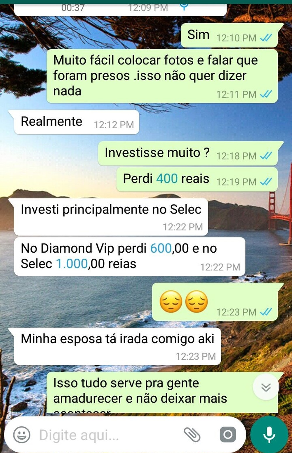 Vítimas da pirâmide financeira lamentam as perdas no esquema suspeito (Foto: Reprodução/WhatsApp/Lucas Sá/DDF)